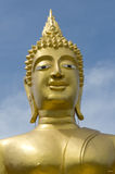 Gilded head of Buddha Royalty Free Stock Photo