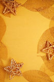 Gilded leaves and stars Royalty Free Stock Photos