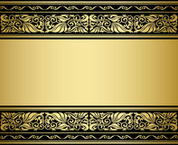 Gilded ornmaments and patterns. With flourish elements for design Stock Photography