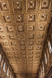 Gilded Panelled Ceiling in Basilica di Santa Maria Maggiore - Rome Royalty Free Stock Photography