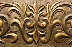 Gilded Plaster moulding Royalty Free Stock Image