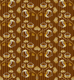 Gilded seamless pattern. Seamless pattern with gold leafs,  format Stock Image
