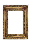 Gilded Shabby Chic Picture Frame over White Royalty Free Stock Images
