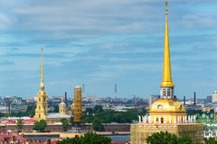 Gilded spiers of St. Petersburg, Russia Royalty Free Stock Photography