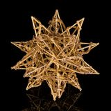 Gilded star isolated on black background Stock Photography