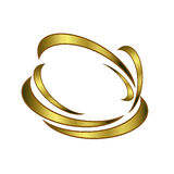 Gilded symbol on  a white background Royalty Free Stock Photography