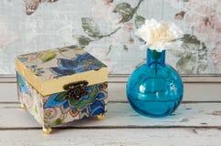 Gilded Trinket Box Royalty Free Stock Photography