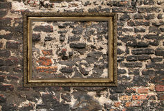 Gilded wooden frame Royalty Free Stock Photos