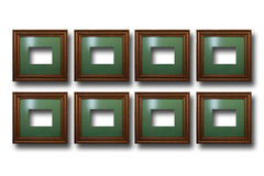 Gilded wooden frames for pictures on isolated background Royalty Free Stock Photography