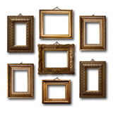 Gilded wooden frames for pictures Stock Images