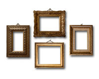 Gilded wooden frames for pictures Royalty Free Stock Photos