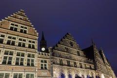 Gildehuis in Graslei in Gent, België Stock Afbeeldingen