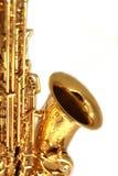 Gilden Saxophon-Abschluss oben Lizenzfreies Stockfoto