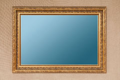 Gilding empty picture frame Royalty Free Stock Images