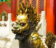 Gilding kylin of Beijing Forbidden City Royalty Free Stock Photo