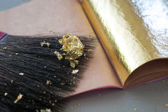 Free Gilding Theme With A Leaf Of Beaten Gold Royalty Free Stock Images - 94254169