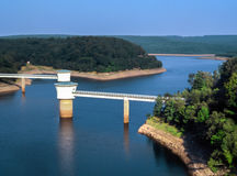 Gileppe Dam in Wallonia, Belgium Royalty Free Stock Images