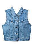 Gilet bleu de denim Photo libre de droits