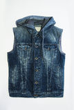 Gilet bleu masculin de denim Image stock