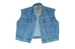 Gilet de denim Photos stock