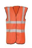 Gilet orange de sécurité photo libre de droits