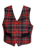 Gilet rouge de plaid Images stock