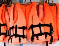Gilets de sauvetage Photo libre de droits