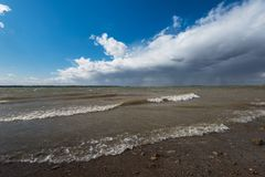 Gilevskoe reservoir is a reservoir Stock Photography