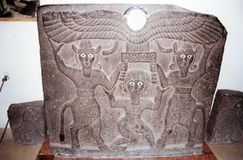 Gilgamesh relief Stock Images