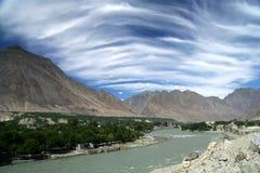 Gilgit river Stock Photo
