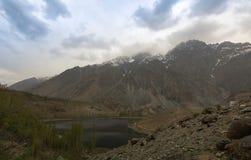 Gilgit River and lake, Pakistan Stock Image