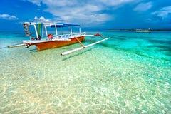 Gili的Meno,印度尼西亚美丽的海运。 库存照片
