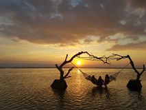 Gili ö, Indonesien arkivbild