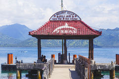 GILI-ÖAR, INDONESIEN - MARS 22: Gili öar är små tropiska öar Fotografering för Bildbyråer