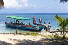 GILI-ÖAR, INDONESIEN - MARS 22: Gili öar är små tropiska öar Royaltyfri Bild