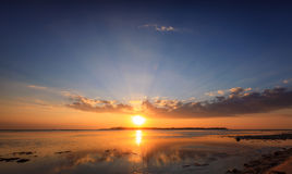 Gili Air Sunset Imagens de Stock Royalty Free
