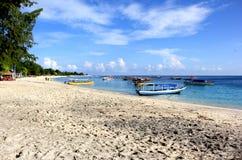 Gili Beach. A peaceful beach on Gili Trawangan, Indonesia Stock Image