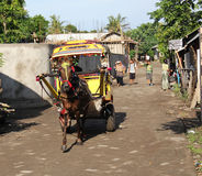 Gili Horse Cart Royalty Free Stock Photo