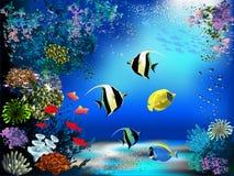 gili Indonesia wyspy lombok meno blisko dennego żółwia underwater światu Obraz Stock