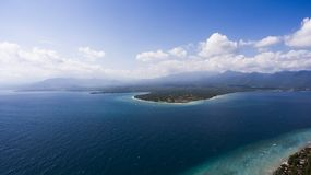 The Gili Island without cars and motorbikes, ecological clean pшыдфтв Stock Image