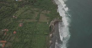 Gili island, Indonesia. Drone footage of a calm dawn on abandoned  beach amazing  Gili island, Indonesia stock footage