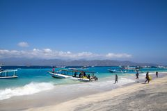 Gili Islands Boats royalty free stock photo