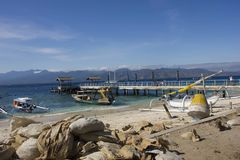 Gili Islands Harbour in Indonesia Stock Photo