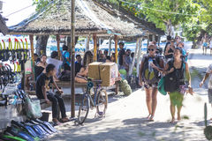 GILI ISLANDS, INDONESIA - MARCH 22: Gili islands are small tropical islands Stock Photography