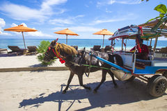 GILI ISLANDS, INDONESIA - MARCH 22: Gili islands are small tropical islands Stock Images