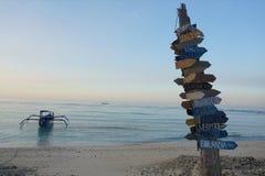 Gili Meno海滩 免版税库存照片