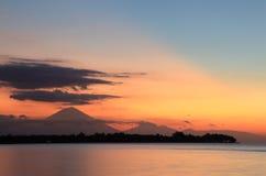 Gili Meno island sunset Royalty Free Stock Photography