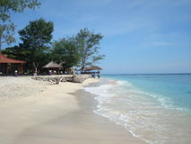 Gili Trawangan. Beach at Gili Trawangan northwest coast of Lombok, Indonesia Royalty Free Stock Photo