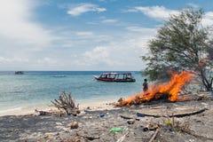 Gili Trawangan. Horsedrawn cart on Gili Trawangan island in Indonesia Royalty Free Stock Image