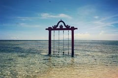 Swing. Gili Trawangan, Lombok, NTB, Indonesia Royalty Free Stock Images